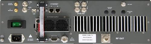 100W S-Band Transmitter Rear Panel
