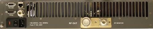 UHF-Band Medium Power Amplifier DMPA 120UX Rear Panel 2